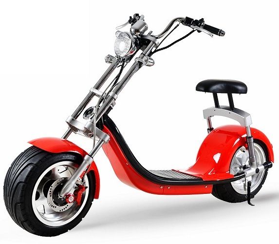 scooter lectrique type chopper rouge 100 electrique et colo. Black Bedroom Furniture Sets. Home Design Ideas
