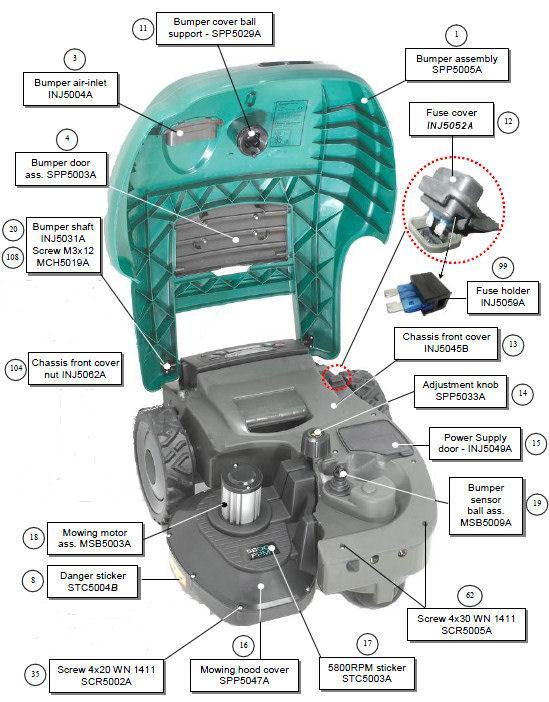 accessoires et pieces rm et mi robot autonome tondeuse aspirateur laveur. Black Bedroom Furniture Sets. Home Design Ideas